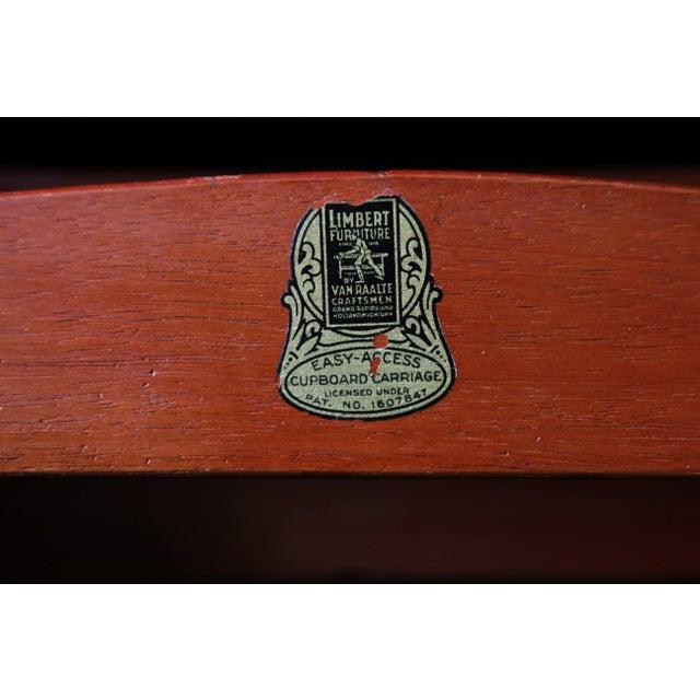 Limbert Hepplewhite Style Inlaid Flame Mahogany Sideboard Buffet, Circa 1930s - Image 11 of 11