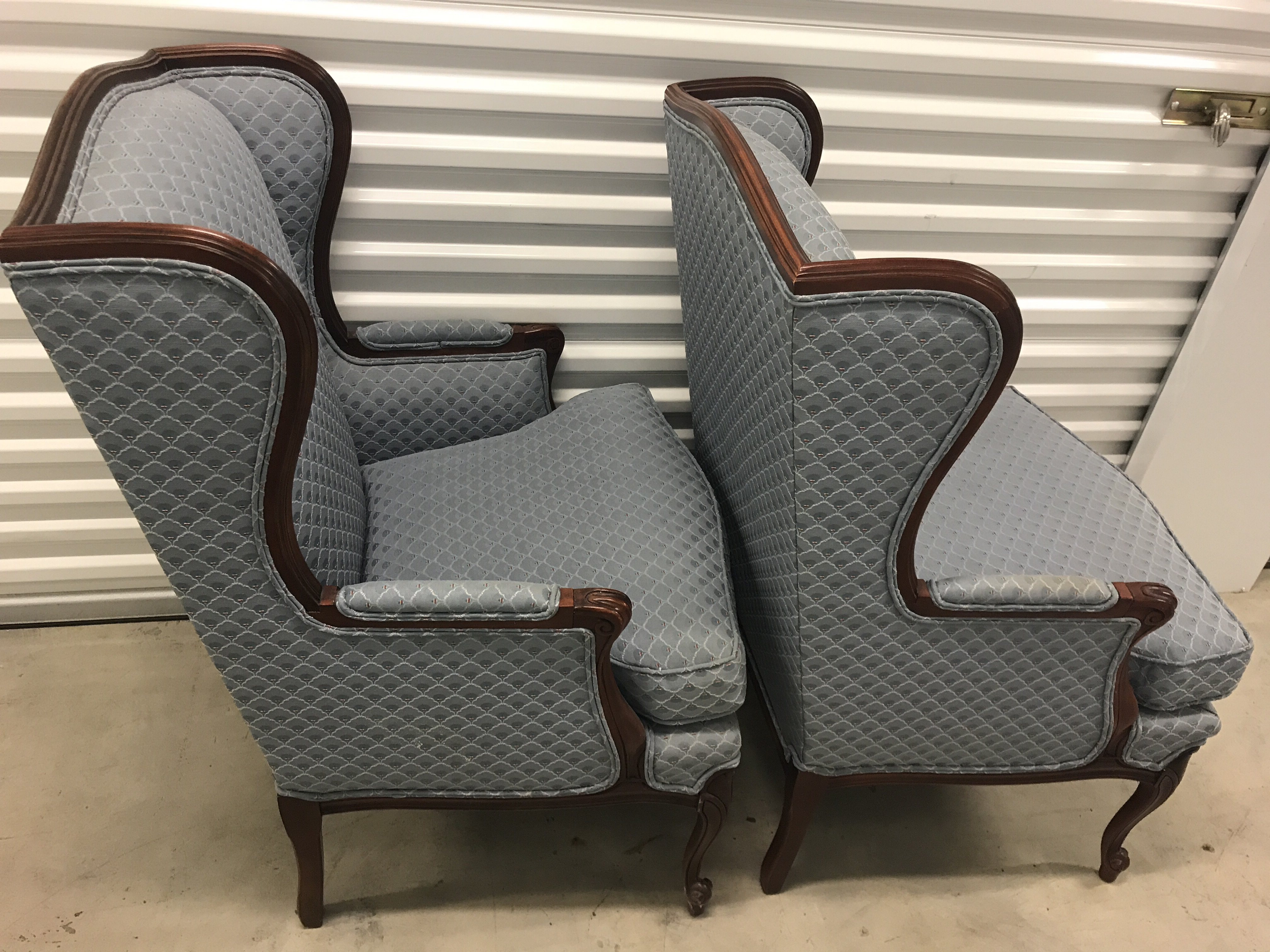 High Quality Thomasville Wingback Chairs   A Pair   Image 5 Of 7