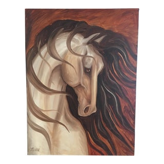 Original Leni Tarleton Equine Oil On Canvas