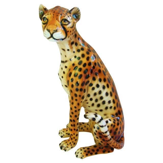 Large Hollywood Glam Mid-Century Italian Cheetah - Image 1 of 11