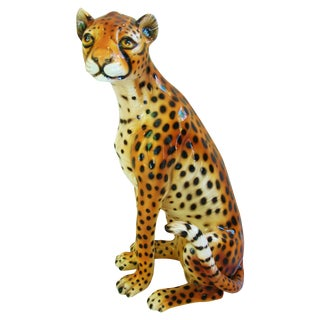 Large Hollywood Glam Mid-Century Italian Cheetah