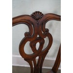 Image of Mahogany Chippendale Armchairs - A Pair