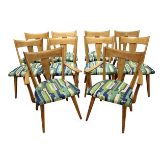 Set of 10 Mid-Century Modern Heywood Wakefield Cadence Sable Dining Chairs