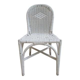 Antique Wicker Outdoor Patio Chair