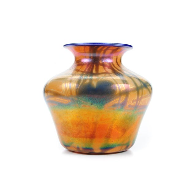 Imperial Art Glass Heart & Vine Decor Vases- A Pair - Image 6 of 9