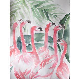 """Flamingos"" Original Watercolor Painting"
