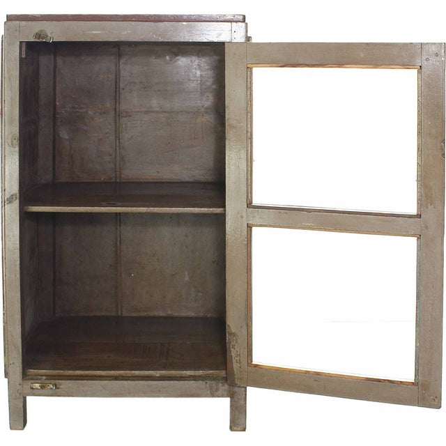 Vintage Olive-Hued Cabinet - Image 3 of 4