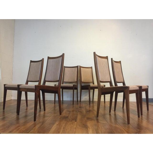 Karl Erik Ekselius for JOC Rosewood Dining Chairs- Set of 6 - Image 4 of 7