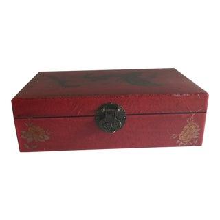 Mid-Century Chinese Red Trinket Box