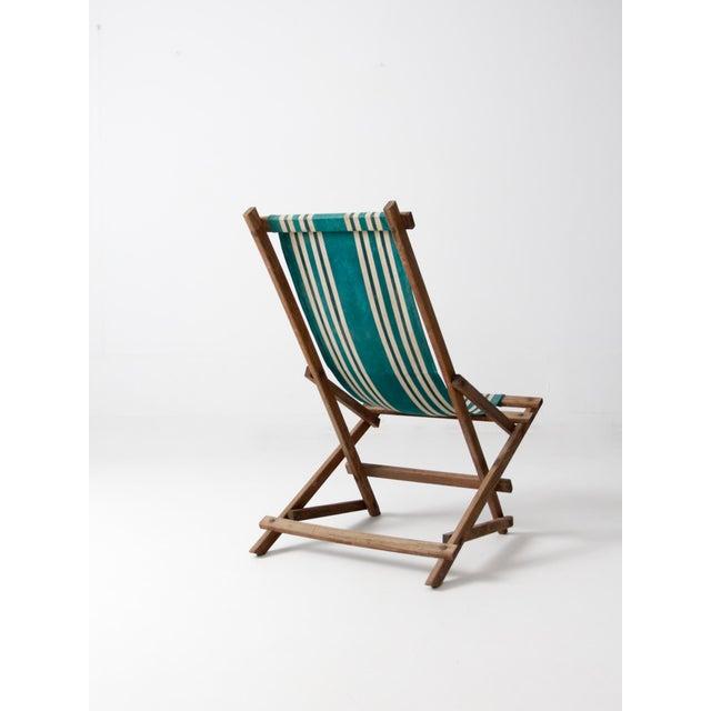 Vintage American Deck Chair - Image 3 of 9