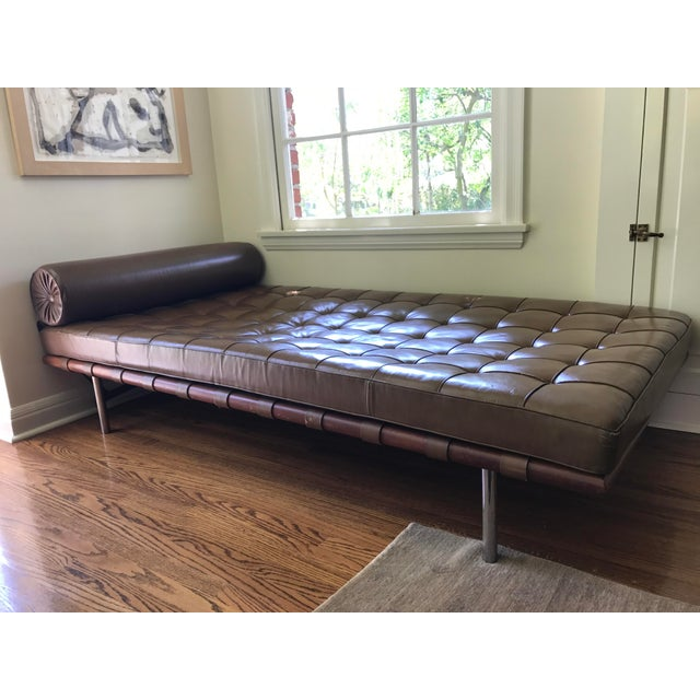 Image of Mies Van Der Rohe Brown Leather Daybed