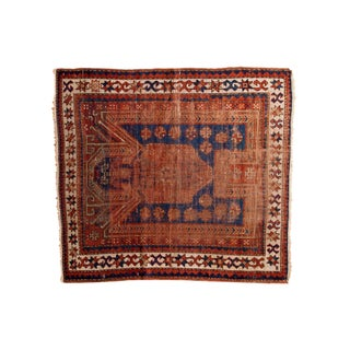 "Antique Sewan Caucasian Square Rug - 4'1"" x 4'6"""
