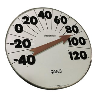 Vintage Industrial Ohio Thermometer