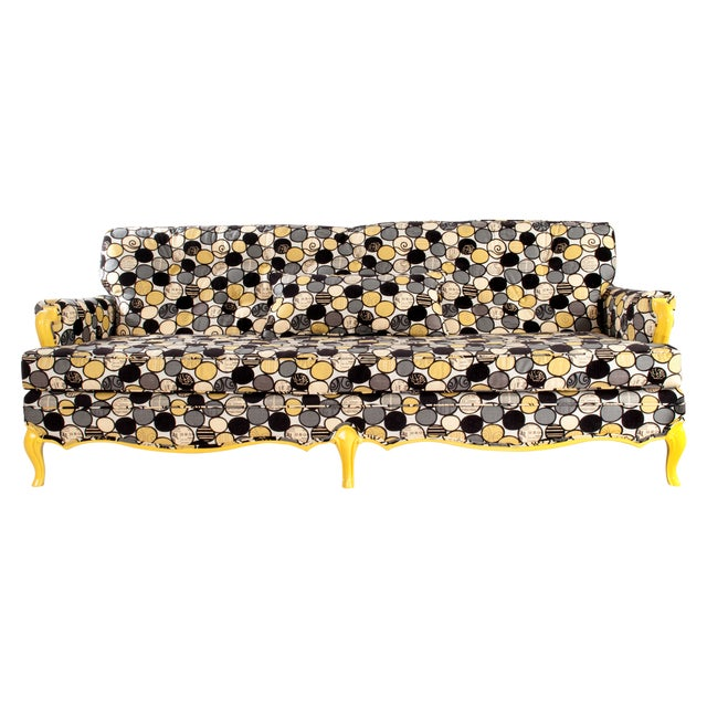 Vintage Sofa in Yellow - Image 1 of 6