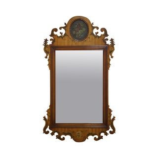 Hand Painted Decorated Chippendale Style Mirror
