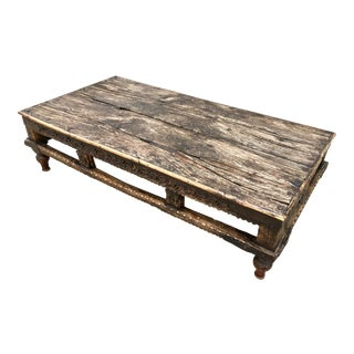 19th Century Burmese Wood Opium Bed Coffee Table
