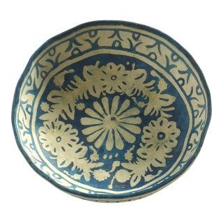 Folk Art Painted Gourd Bowl