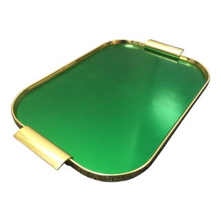 Metallic Green Serving Tray by Kaymet