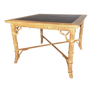 Rattan and Bamboo Dining/Game Table