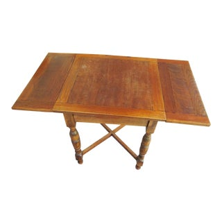 Antique Draw Leaf Games Table