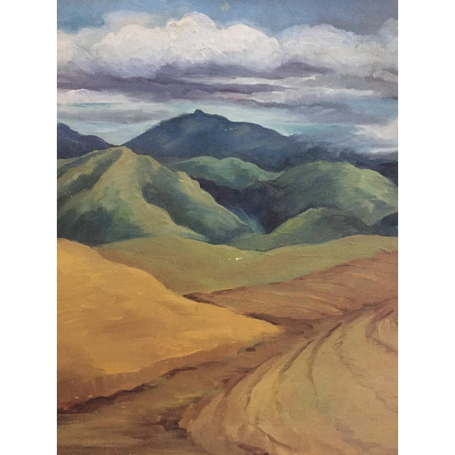 Mid-Century California Gold Will Frates Painting - Image 3 of 5