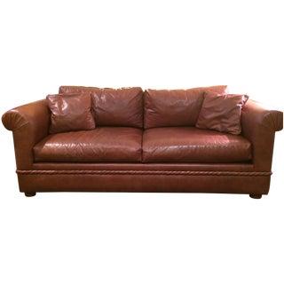 Custom Made Leather Sofa