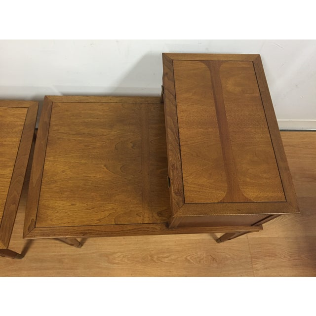 Image of Mid Century Sculpted End Tables - a Pair