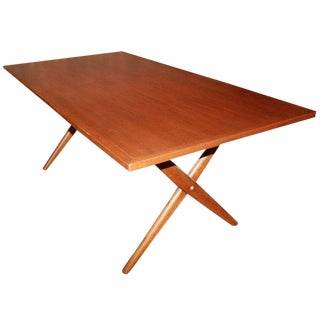 Hans Wegner X Base Trestle Teak Dining Table