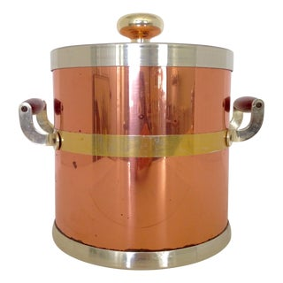Kraftware NYC Vintage Copper & Brass Ice Bucket