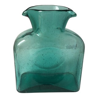 Vintage Blenko Turquoise Glass Pitcher
