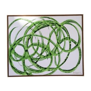 'Green Circles' Original Watercolor