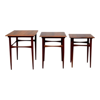Kai Kristiansen Rosewood Nesting Tables - Set of 3