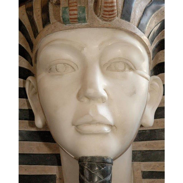 Marble Bust of Egyptian Pharaoh - Image 3 of 8