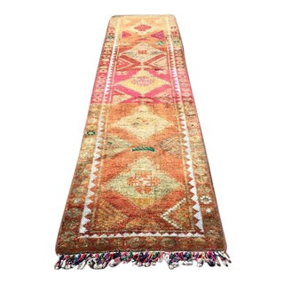 Vintage Turkish Runner Rug - 3′ × 11′11″