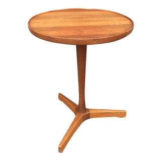 Hans C. Andersen Teak Tripod Side Table
