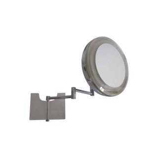 Mid-Century Modern Chrome Wall Vanity Mirror