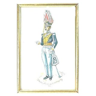 D. Wilson Antique 19th Century Soldier Watercolor