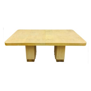Hickory White Mid-Century Burl Dining Table