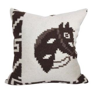 Hand Woven Wool Horse Pillow