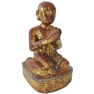 Antique Burmese Monk Statue