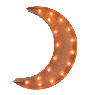 Crescent Moon Icon Marquee Light