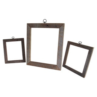 Reclaimed Wood Picture Frames - Set of 3