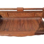 Image of Wood Carved Deep Seat Bench