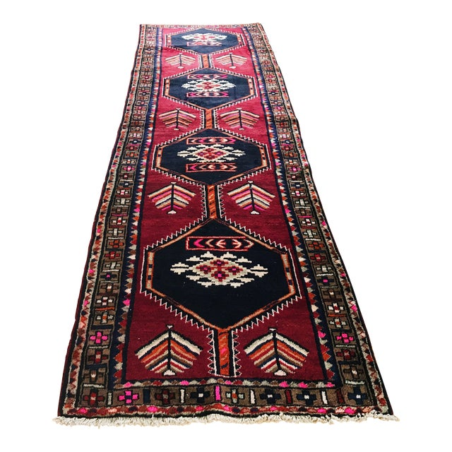 Antique Persian Wool Rug - 3′1″ × 12′2″ - Image 1 of 5
