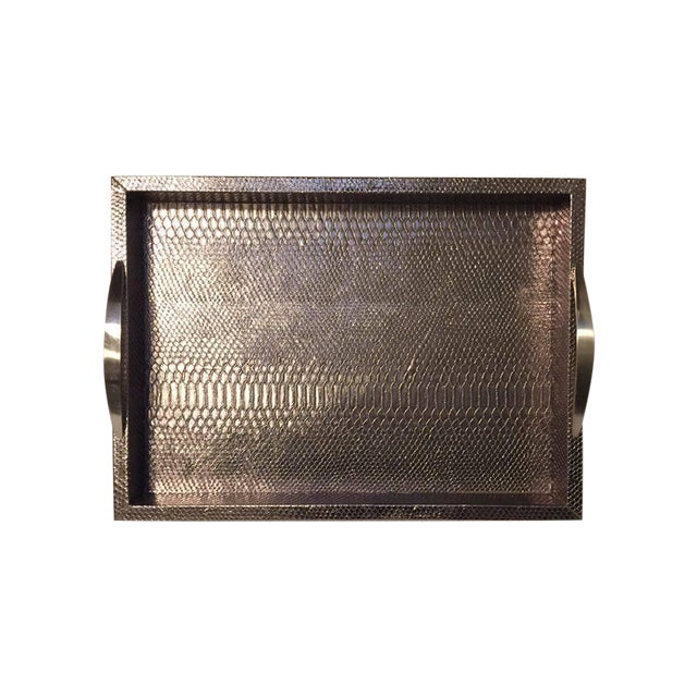 Bronze Snakeskin Handled Tray - Image 1 of 7