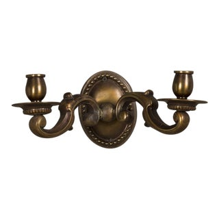 Regence Style Two Arm Bronze Sconce, France c. 1920