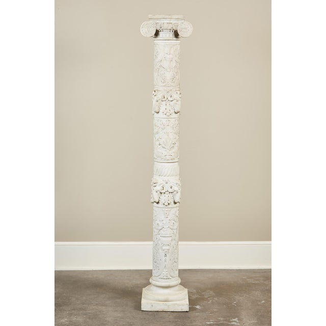 19th Century Italian Carved Marble Column - Image 2 of 9