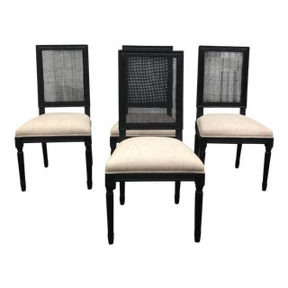Restoration Hardware Vintage French Square Side Chairs - Set of 4
