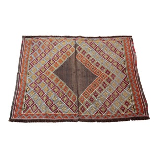 "Vintage Old Turkish Kilim Rug - 2'10"" x 3'4"""