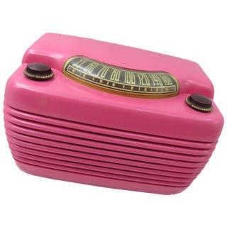"Vintage ""HIppo"" Hot Pink Philco Radio"